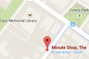 The Minute Shop Map