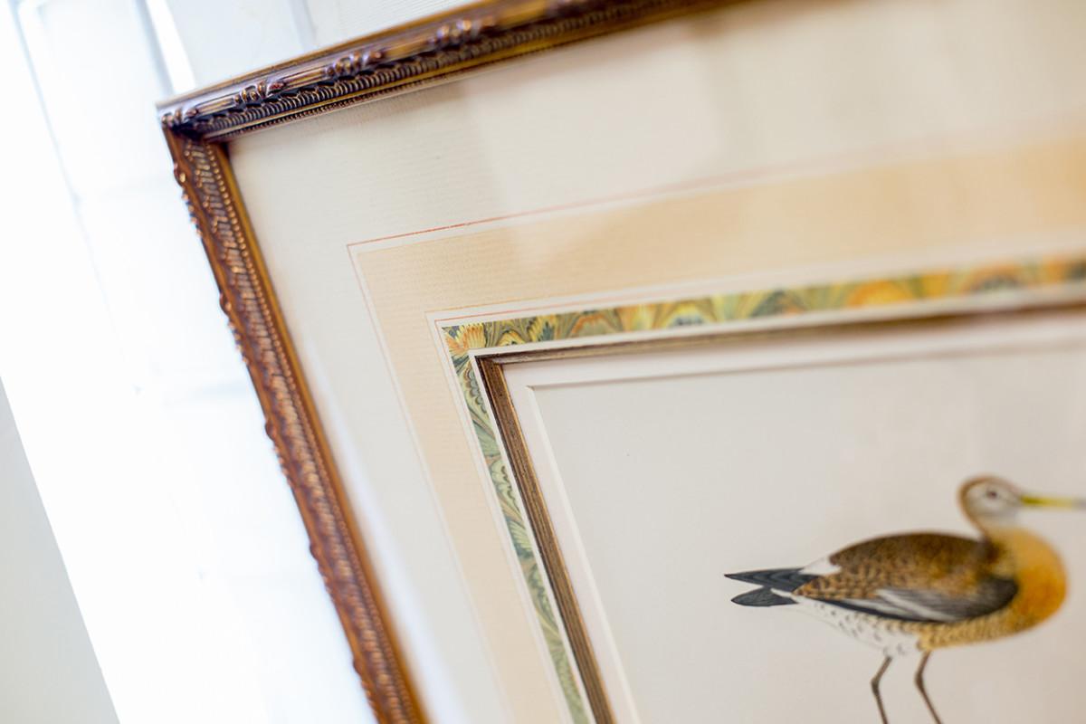 Artwork within a custom frame by Walden Framer