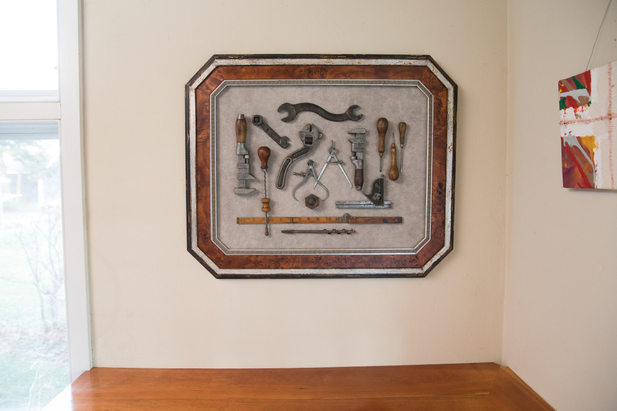 Walden Framer Framing Compositions of Collections & Everyday Objects with Custom Frames